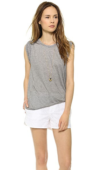 Line Dry Daphne Roll Up Sleeve Tee