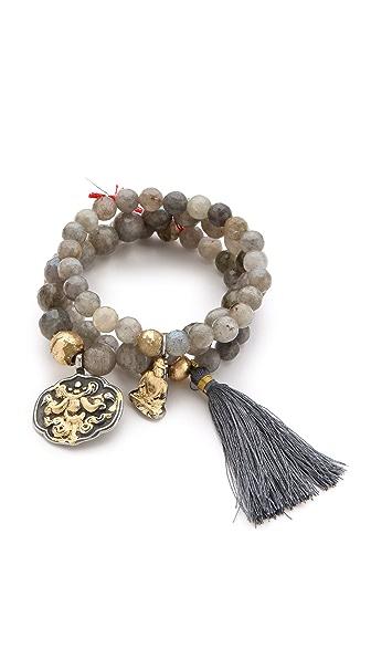 Lead Buddha Bracelet Set
