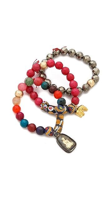 Lead African Bead Bracelet Set