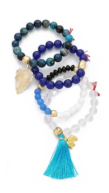 Lead Ocean Arrow Bracelet Set