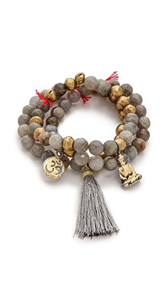 Lead Buddah Beaded Bracelet Set