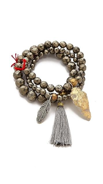 Lead Arrowhead Beaded Bracelet Set