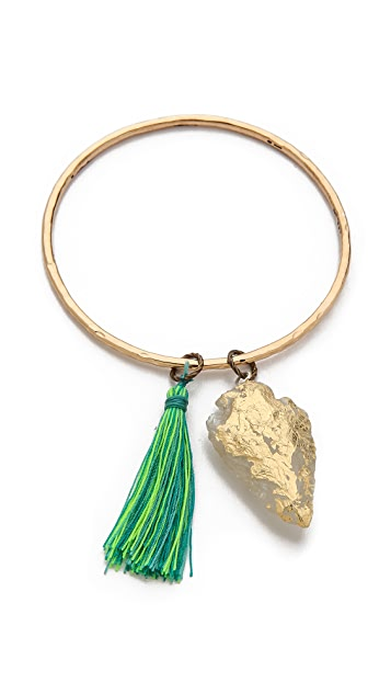 Lead Arrowhead Charm Bracelet