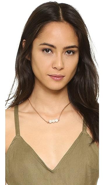 Lead Brooklyn Three Freshwater Cultured Pearl Necklace