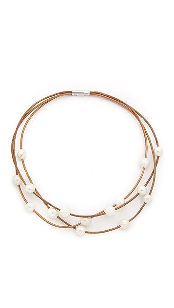 Lead Three Strand Necklace