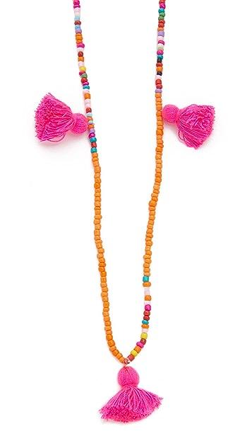 Lead Mutli Tassel Necklace