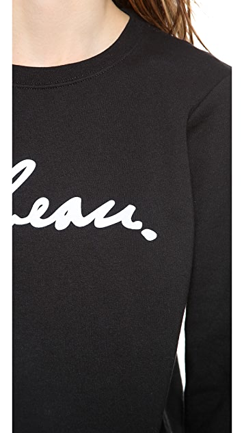 Le Beau Le Beau Crew Neck Sweatshirt