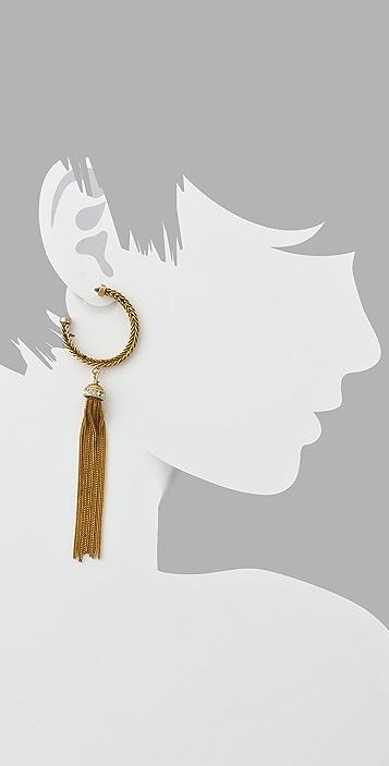 Lee Angel Jewelry Marti Tassel Hoop Earrings