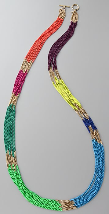 Lee Angel Jewelry Multicolor Chain Necklace
