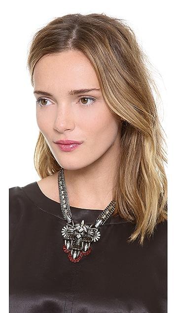 Lee Angel Jewelry Crest Pendant Statement Necklace
