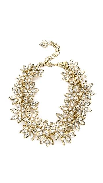 Lee Angel Jewelry Multi Flower Statement Necklace