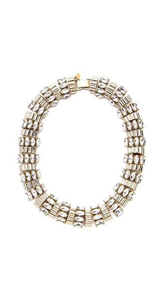 Lee Angel Jewelry Crystal Navette Statement Necklace