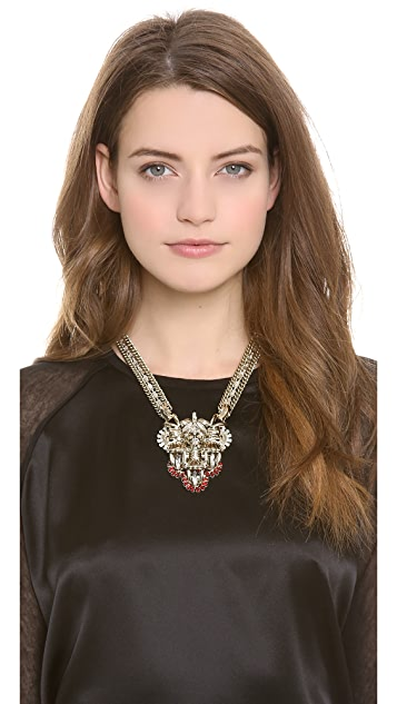 Lee Angel Jewelry Crest Pendant Statement Necklace