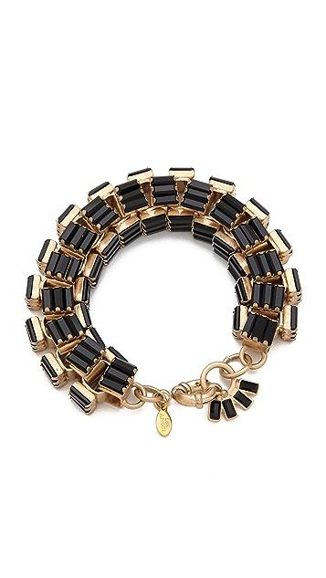 Lee Angel Jewelry Crystal Baguette Box Link Bracelet