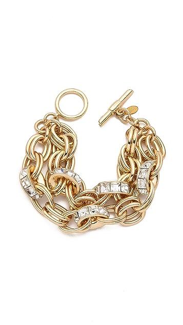Lee Angel Jewelry Double Chain Rondelle Bracelet