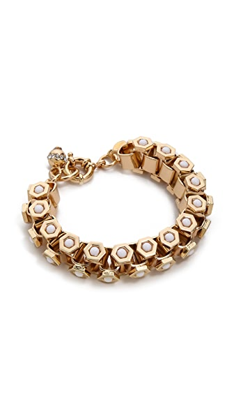Lee Angel Jewelry Octagon Howlite Bracelet