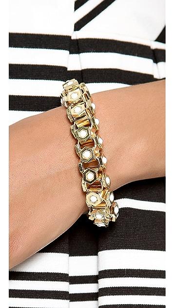 Lee Angel Jewelry Octagon Howlite Bracelet
