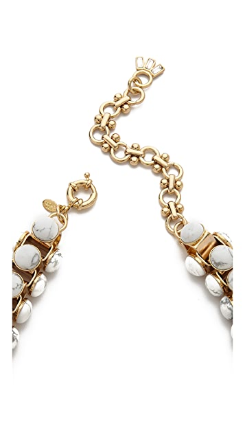 Lee Angel Jewelry Howlite Cabochon Link Necklace