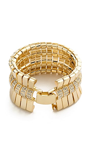 Lee Angel Jewelry Crystal Pave Bar Bracelet