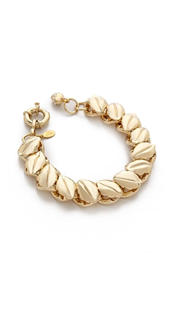 Lee Angel Jewelry Textured Leaf Chain Bracelet