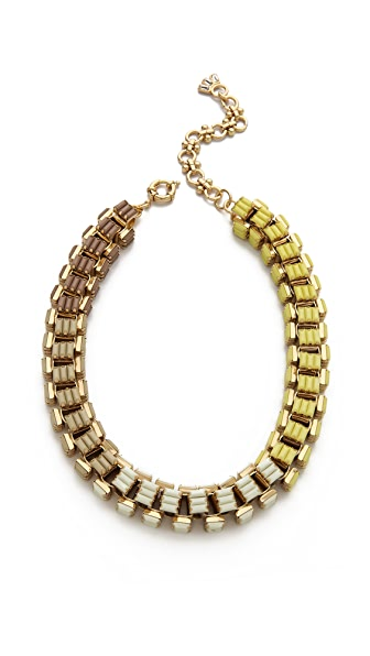 Lee Angel Jewelry Ombre Baguette Box Link Necklace