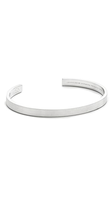 Le Gramme Le 15 Grammes Brushed Silver Cuff