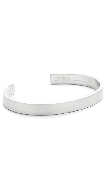Le Gramme Le 21 Grammes Brushed Silver Cuff