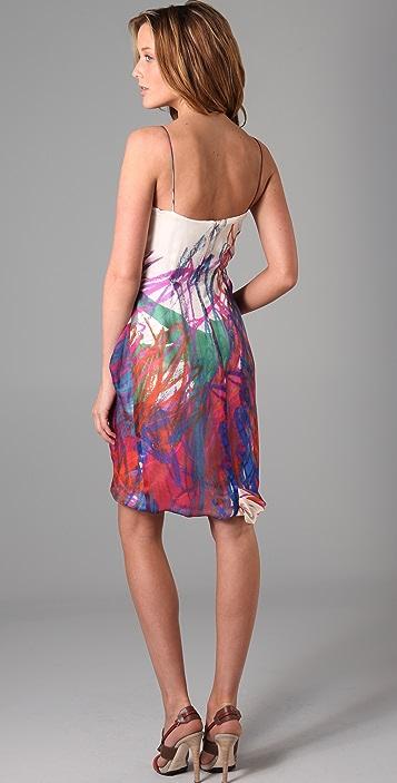Lela Rose Easy Tank Dress with Tucked Skirt