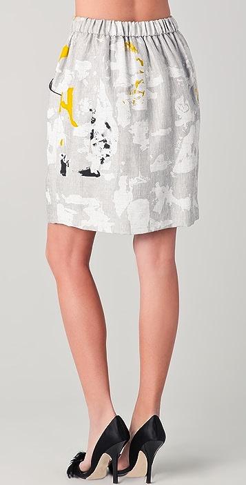 Lela Rose Drawstring Sport Skirt
