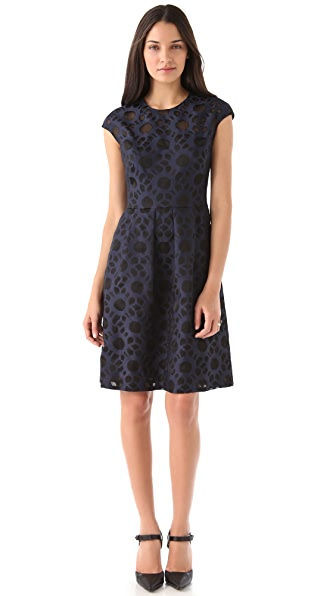 Lela Rose Clock Work Coupe Dress