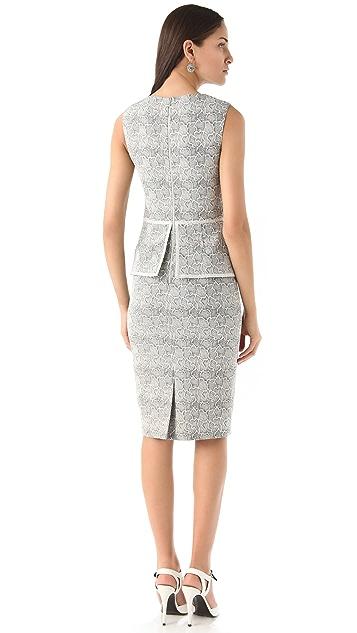 Lela Rose Etched Jaquard Dress