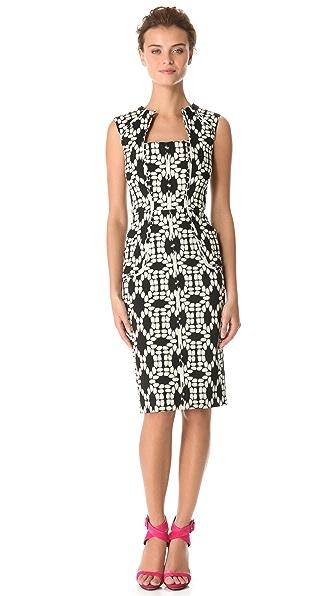 Lela Rose Square Neck Dress