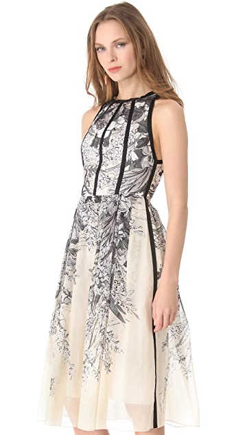 Lela Rose Sleeveless Halter Dress