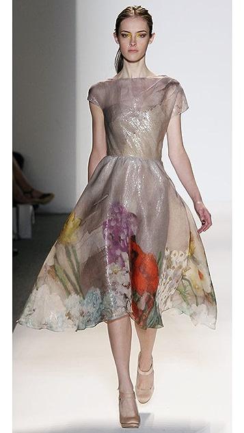 Lela Rose Full Skirted Drape Dress