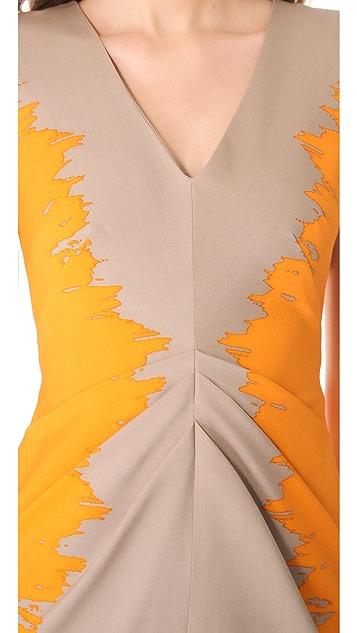 Lela Rose V Neck Dress
