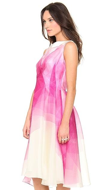 Lela Rose Organza Boat Neck Dress