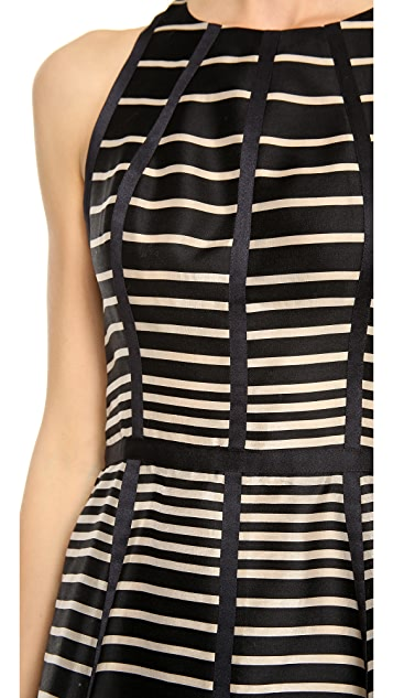 Lela Rose Seamed Halter Dress