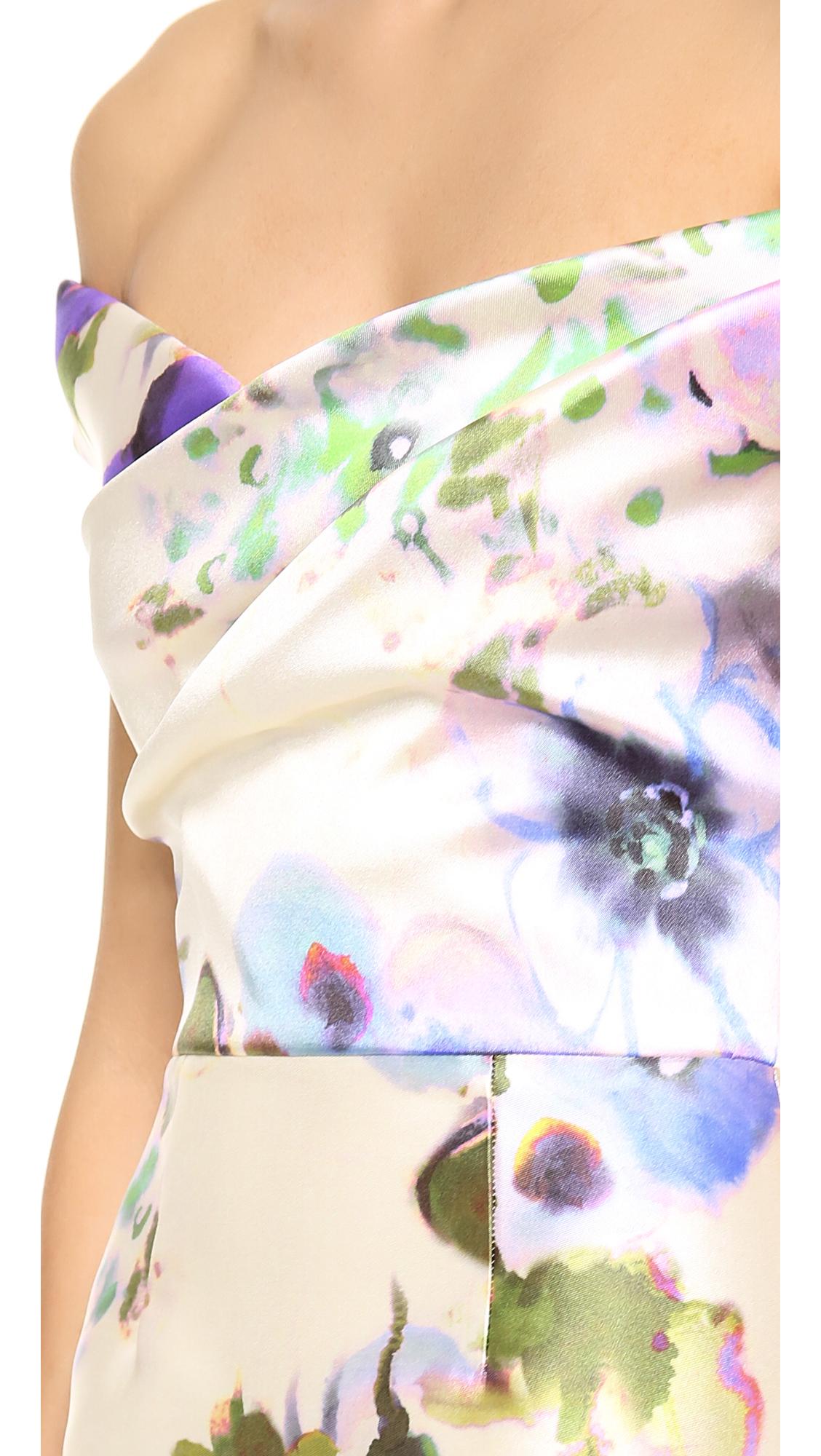 9a65996aa87e Lela Rose Floral Off Shoulder Dress