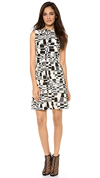 Lela Rose Slit Front Sheath Dress