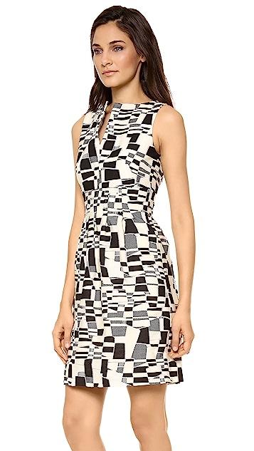 Lela Rose Slit Front Sheath Dress