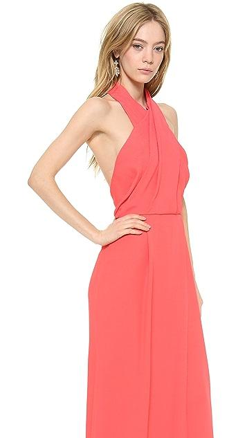 Lela Rose Halter Gown