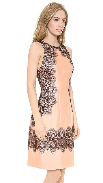 Lela Rose A Line Halter Dress