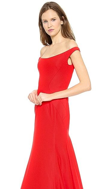Lela Rose Off the Shoulder Gown
