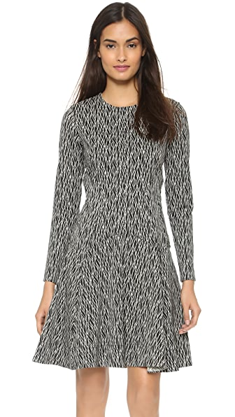 Kupi Lela Rose online i prodaja Lela Rose Long Sleeve Reversible Dress Black/Ivory haljinu online