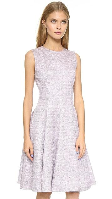 Lela Rose Godet Shimmer Dress
