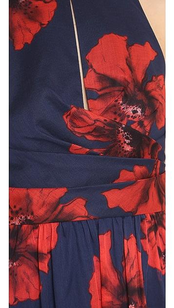 Lela Rose Modified Halter Dress