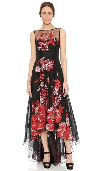 Lela Rose Embroidered Dress