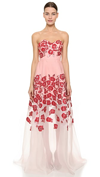 Lela Rose Strapless Gown