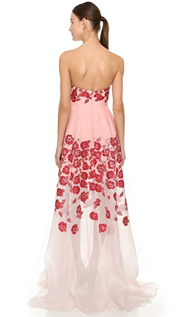 Lela Rose Strapless Gown