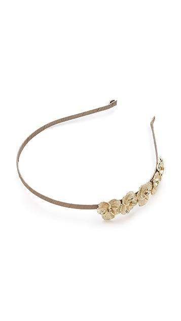 LELET NY Bloom Crystal Flower Silk Headband